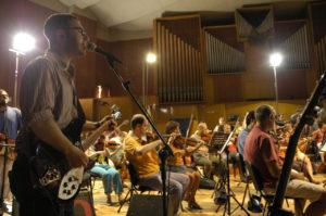 con l'Orchestra Sinfonica della Provincia di Bari